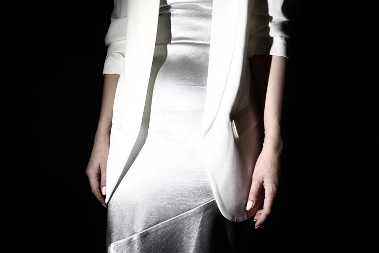 Marynarka Zara, sukienka H&M